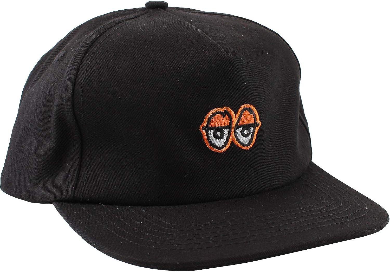 Adjustable Krooked Skateboards Eyes Black//Orange Hat