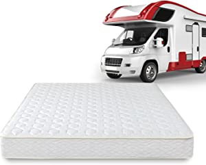 Zinus 8 Inch Spring RV/Camper/Trailer/Truck Mattress, Short Queen