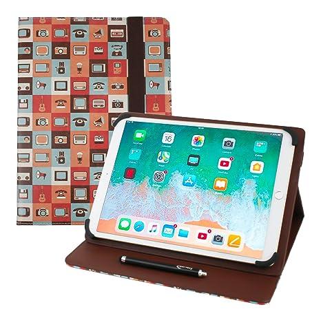 Emartbuy Universal Serie 9.1-10.1 Pulgadas Gadgets Multiángulo Folio Folio Funda Carcasa Wallet con Ranuras para Tarjeta de Crédito y Lápiz Óptico ...