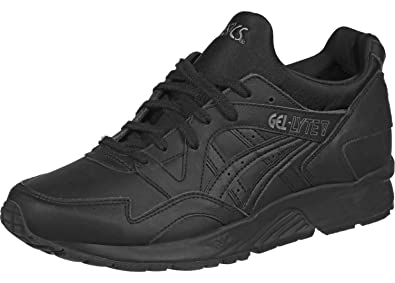 f95f5e926fdc3 Asics Mens Gel-Lyte V Black Leather Trainers 9 UK  Amazon.co.uk ...