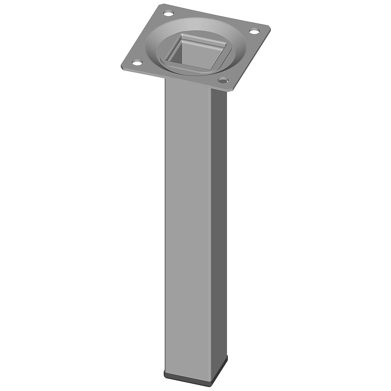 M/öbelf/ü/ße inklusive Anschraubplatte 50 cm Tischbeine 18133-00305 10 Abmessungen 4 farben Element System 4 St/ück Stahlrohrf/ü/ße eckig schwarz