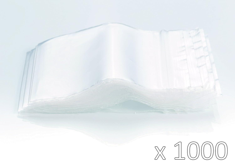 Bolsas de plastico con cierre zip - 120mm x 180mm - 1000 piezas(10x100) - 50 micras - Apta para el contacto alimentario
