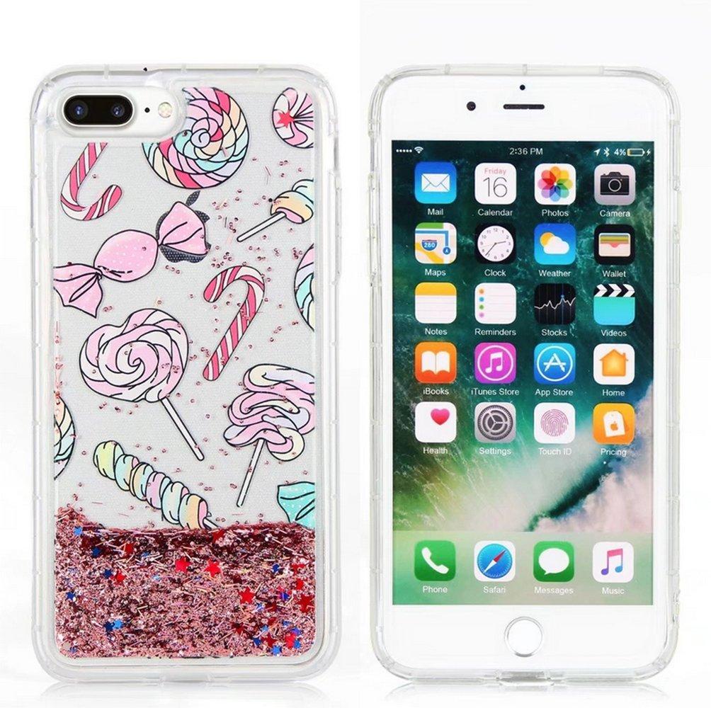 Iphone 6 plus/6s plus Liquid Case,Fusicas Super Cute Cartoon Rabbit