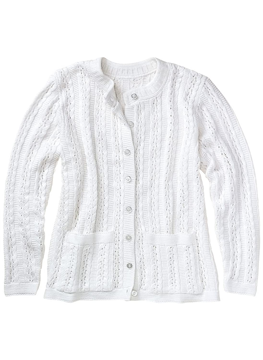 1940s Teenage Fashion: Girls Cable Stitch Cardigan $29.99 AT vintagedancer.com