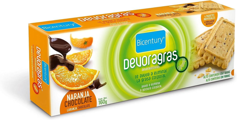 Bicentury galletas devoragras naranja c/chocolate(4 x 40 g (4 ...