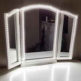 Led Spiegelleuchte,Led Eitelkeits Licht Streifen 4M/13Ft 6000K Tageslicht  Dimmbar Für Schminkspiegel.