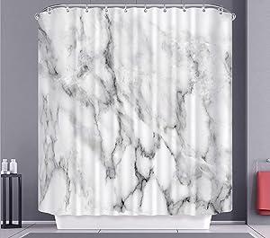 Shower Curtain for Bathroom Marble Black White Texture Shower Curtain Grey Texture 3D Crack Design Modern Bathtub Sets Accessories Home Decor Heavy Duty Waterproof 72x72