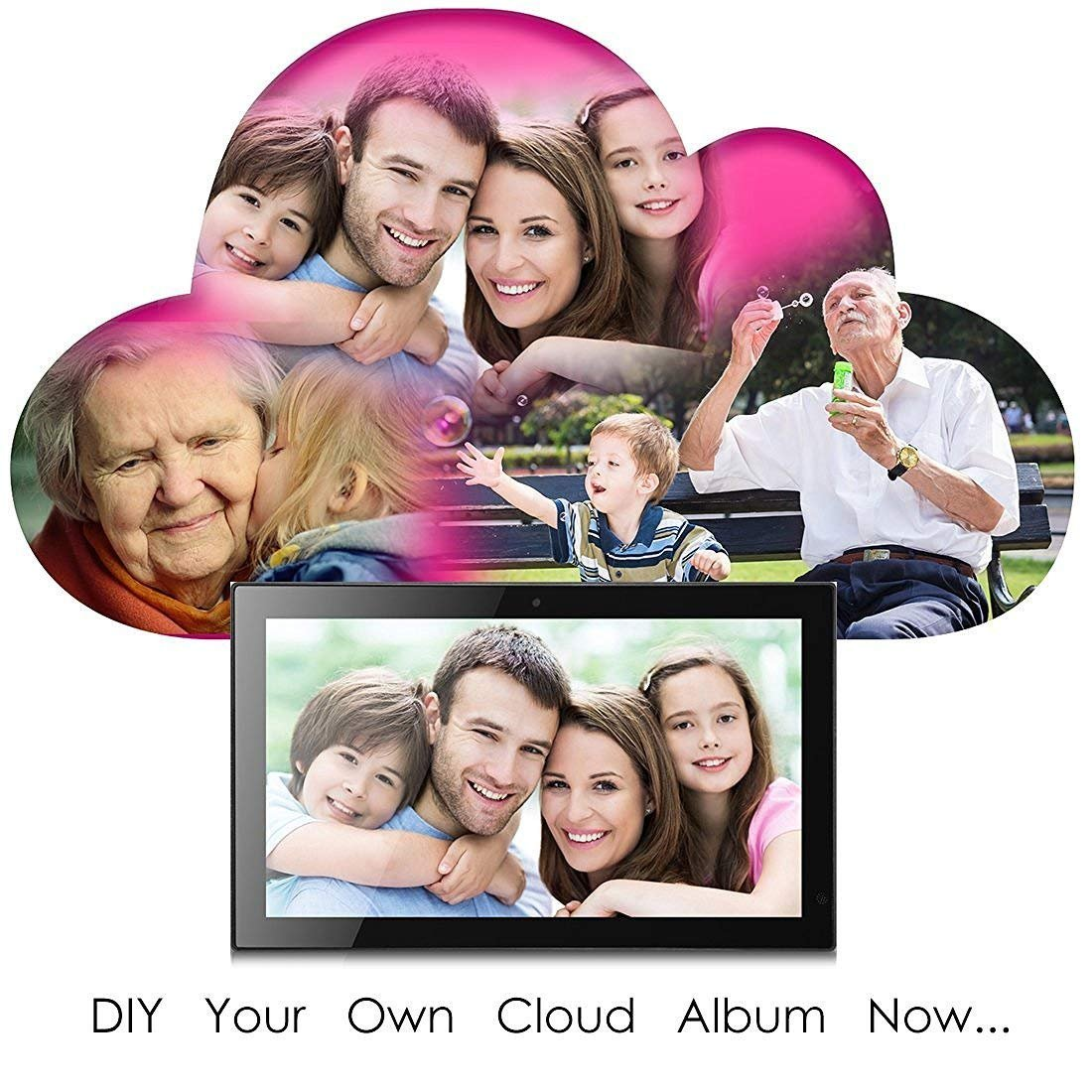 19'' WiFi Cloud Frame with Remote Control, 20GB Free Cloud Storage, Music, Movie, Social Media, Wall mountable by Sungale (Image #2)