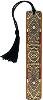 product image for Argyle (Black) Wooden Bookmark with Tassel - Also Available Personalized