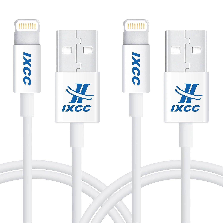 IXCC Cable Lightning Cargador iPhone a USB - 1m / 8pin- [Apple MFi Certificado] Conector Ultra Compacto para iPhone 7 Plus/7/SE/5/6/6s Plus/iPad ...
