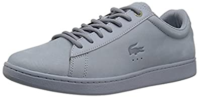 72c18ffea Image Unavailable. Image not available for. Color  Lacoste Women s Carnaby  EVO 118 1 G SPW Sneaker Light Blue ...