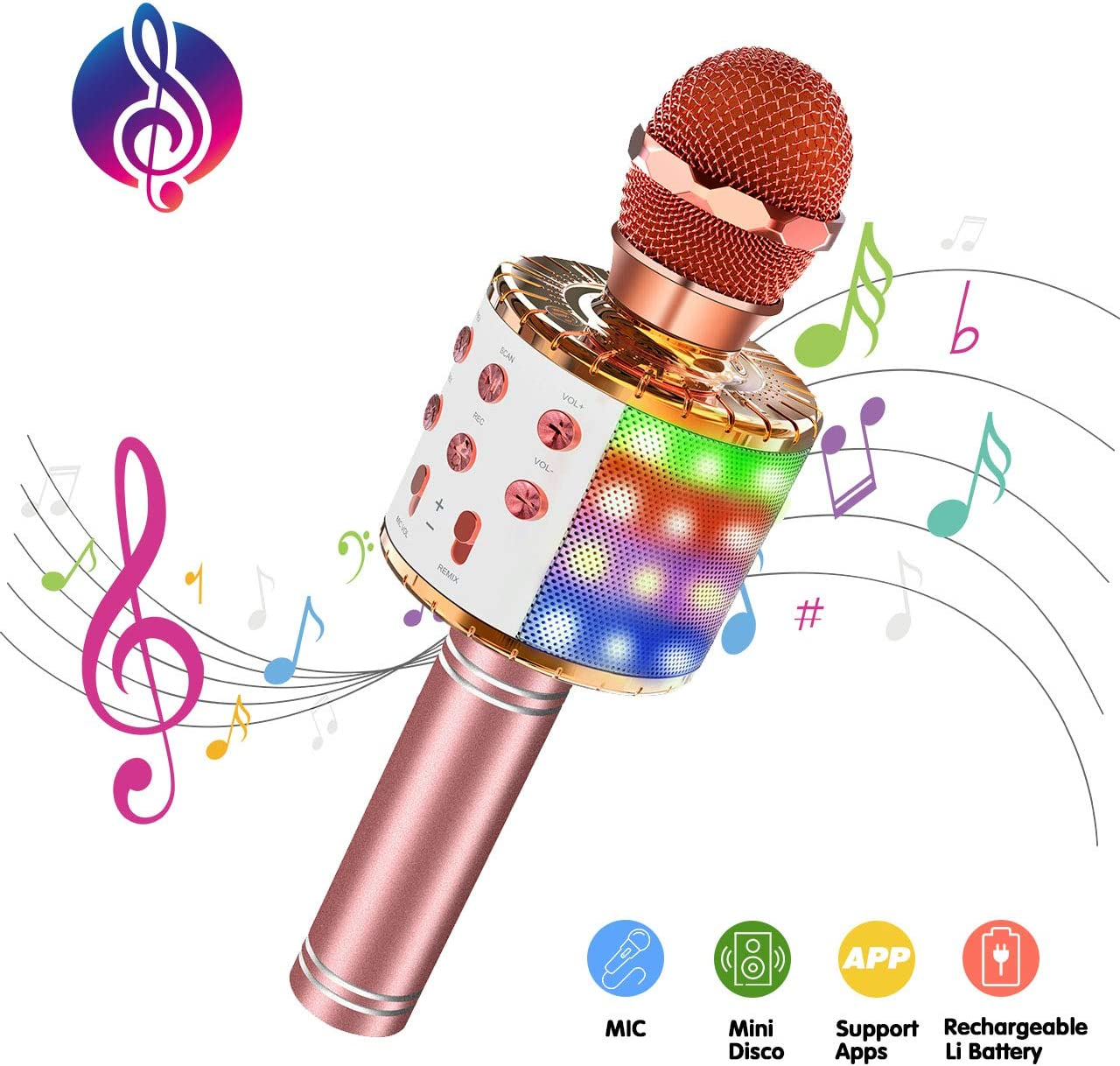 EUTOYZ Microphone pour Enfants