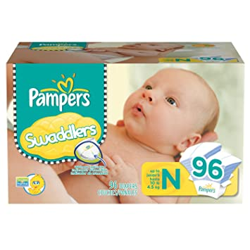 Pampers - Swaddlers, Size Newborn (Up to 10 Lbs.), 96 Ct