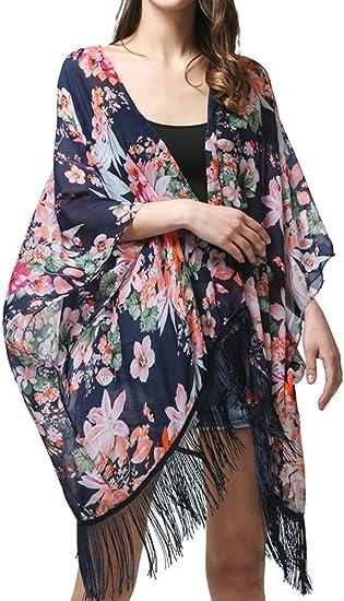 WOMENS BUTTERFLY PRINT SWIMWEAR BEACH KAFTAN BIKINI COVERUP KIMONO SARONG DRESS