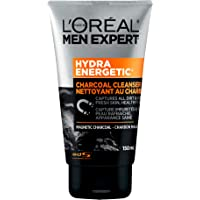 L'Oreal Paris Men Expert Hydra Energetic, Magnetic Charcoal Cleanser, Foaming Face Wash, For Tired Skin, 150 ML