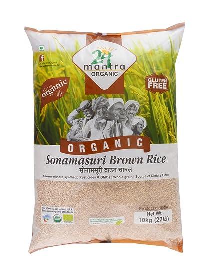 24 Mantra Organic Sonamasuri Brown Rice, 10kg