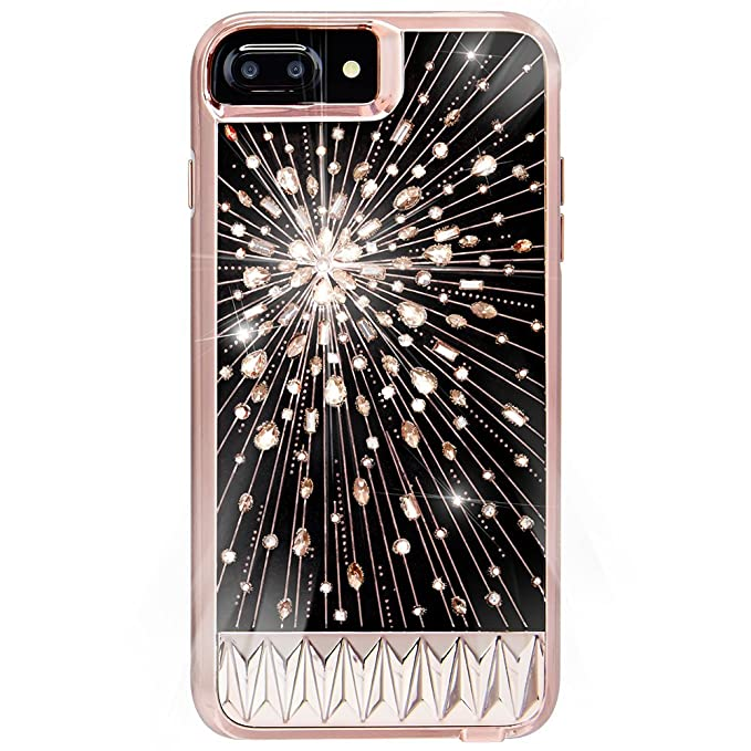separation shoes 554a5 5f773 Case-Mate iPhone 8 Plus Case - LUMINESCENT - Light Up Crystals - Protective  Design for Apple iPhone 8 Plus - Luminescent