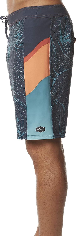 19 Inch Outseam ONeill Mens Water Resistant Hyperfreak Stretch Swim Boardshorts