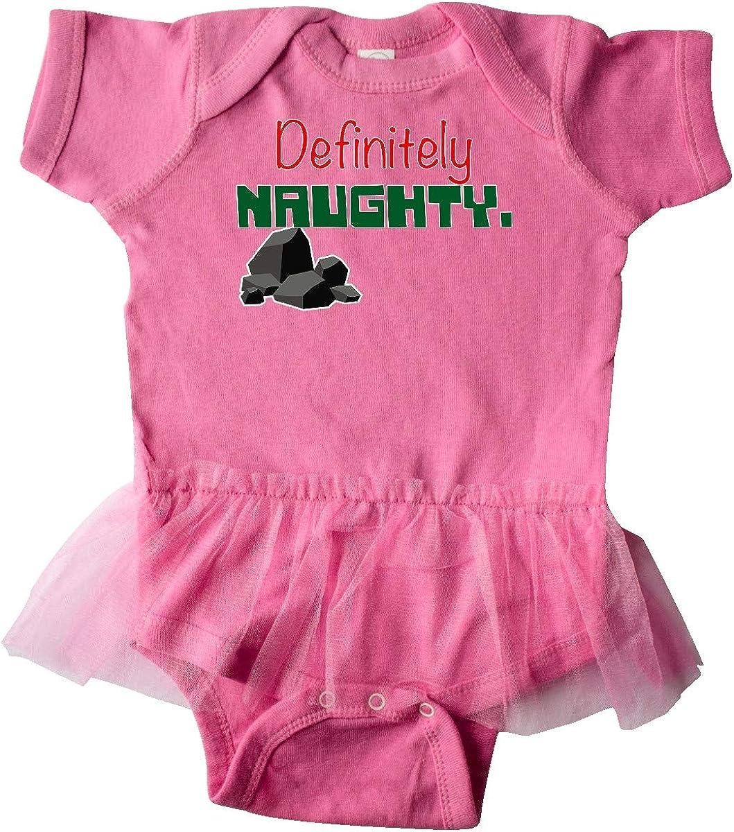 inktastic Definitely Naughty Graphic Infant Tutu Bodysuit