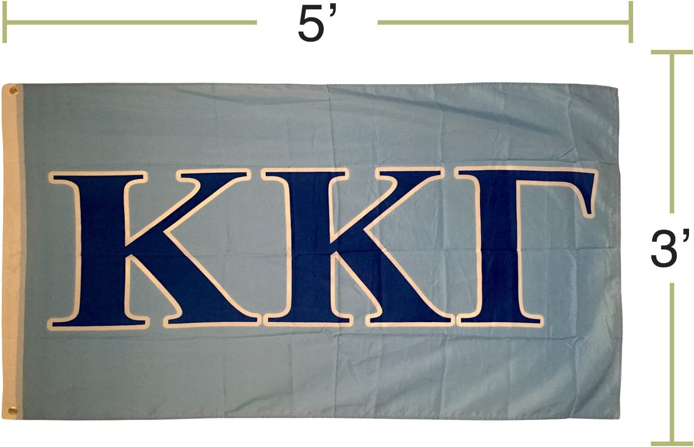 Kappa Kappa Gamma Letter Sorority Flag Greek Letter Use as a Banner Large 3 x 5 Feet Sign Decor KKG