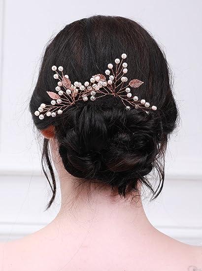 Kercisbeauty Fermacapelli in oro rosa b6a3f2a7a9f4
