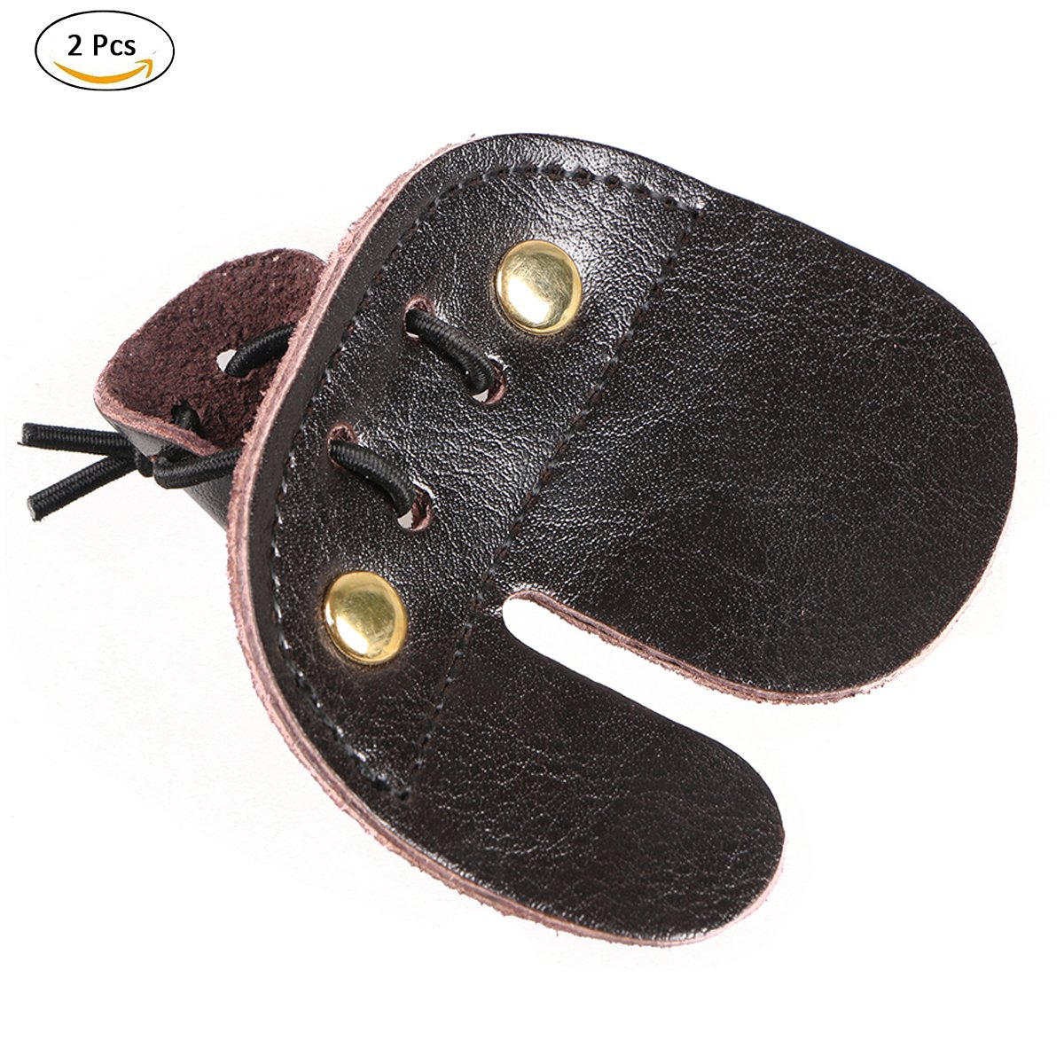 Summer Win 2pcs Cow Leather Archery Finger Tab for Recurve Bows Shooting Hunting Finger Protector