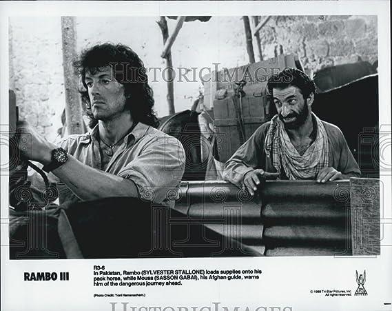 Vintage Photos 1988 Prensa Foto Rambo III Sylvester Stallone, Sasson Gabai – DFPG46933: Amazon.es: Hogar