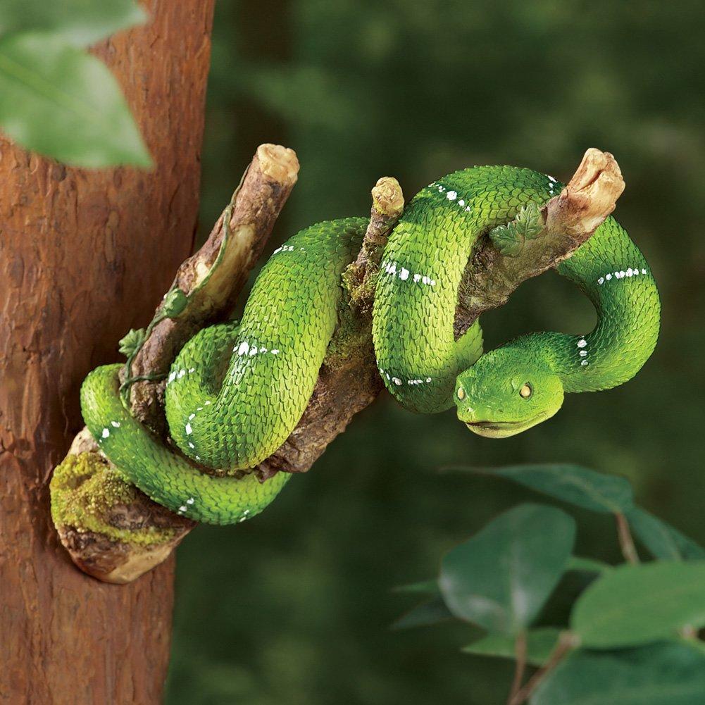 Amazon.com : Collections Etc Snake Tree Hanger Figurine : Garden ...