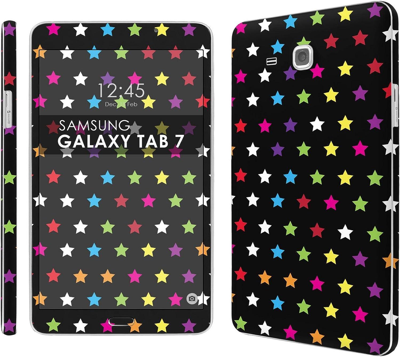 Amazon Com Decal Skin Matching Wallpaper Black Rainbow Stars Compatible For Samsung Galaxy Tab A 7 0 Screen 7 Screen