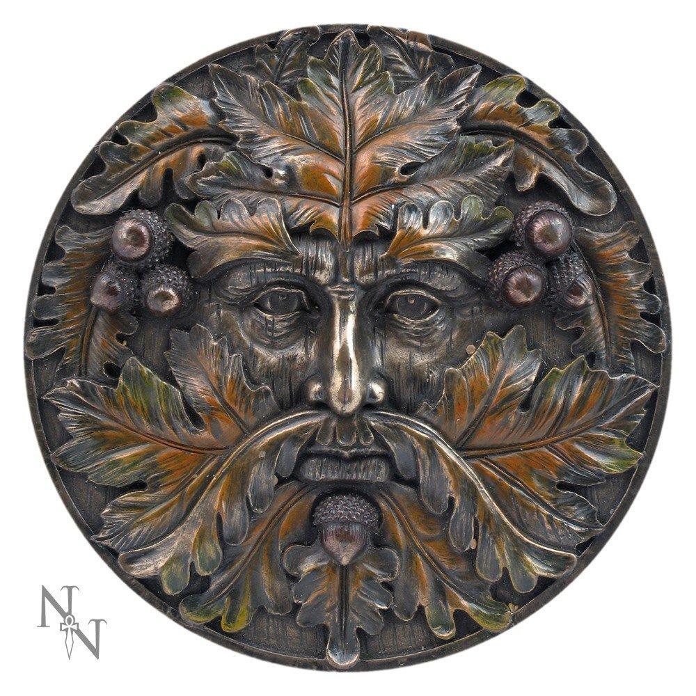 16 cm Targa da Parete in Bronzo 16 cm Nemesis Now Autumn Equinox
