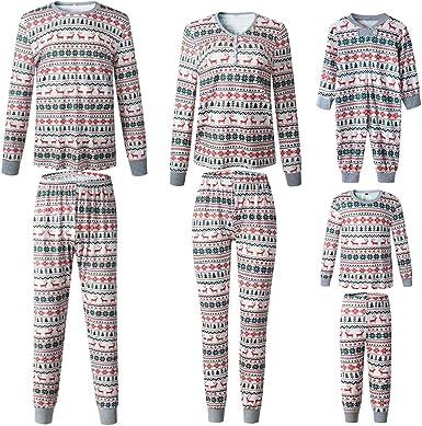 Pijamas de Navidad Familia Conjunto Dos Piezas Pantalon y Top ...
