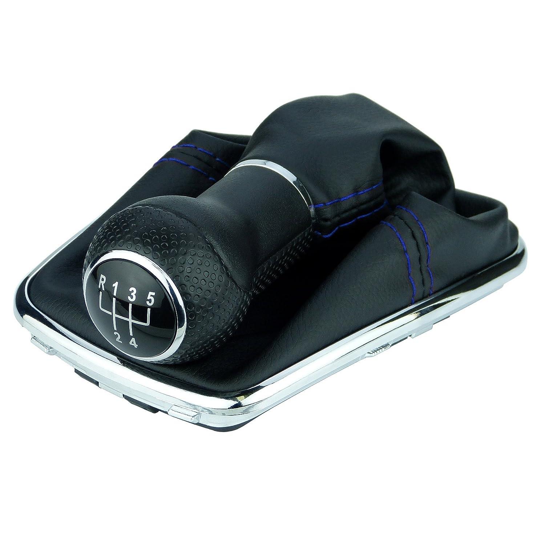 L /& P A251/ /12/funda para palanca de cambio para Negro Costura Azul Pomo para marco de cromo con 5/velocidades con 23/mm Pomo como Plug Play para Notebook para 1j0711113