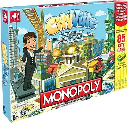 Hasbro Monopoly CityVille - Juego de Mesa (en Italiano) [Importado de Italia]: Amazon.es: Juguetes y juegos