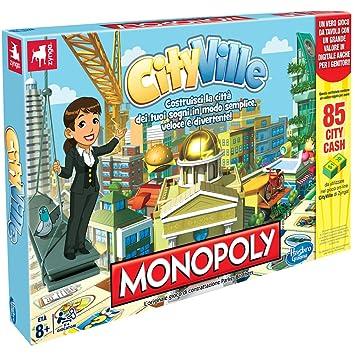 Hasbro Monopoly Cityville Juego De Mesa En Italiano Importado