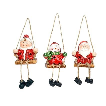 Amazon Com Evelyne Gmt 10309 3 3 Piece Set Holiday Season Ceramic