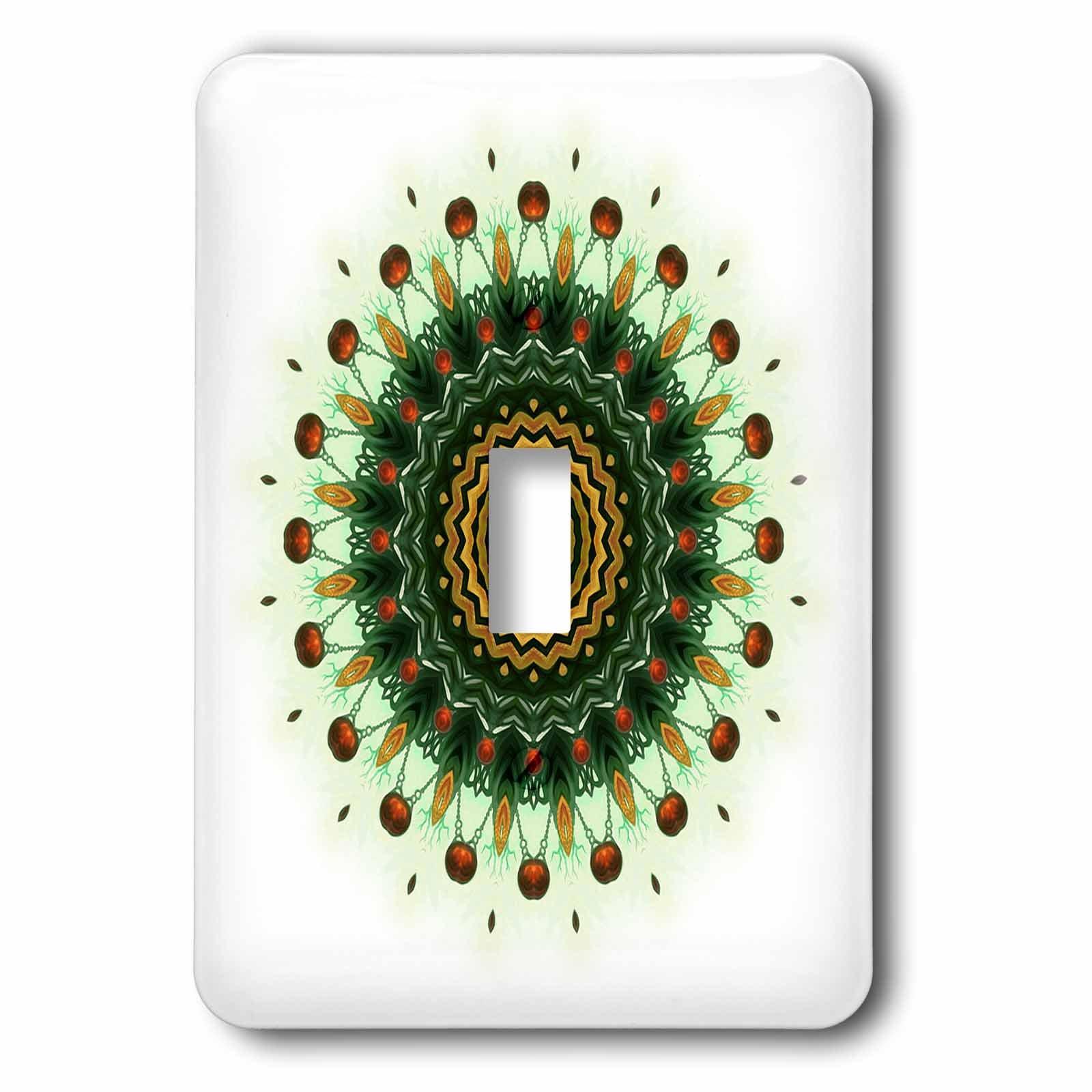 3dRose lsp_42266_1 India Ornament Flake Mandala Light Switch Cover