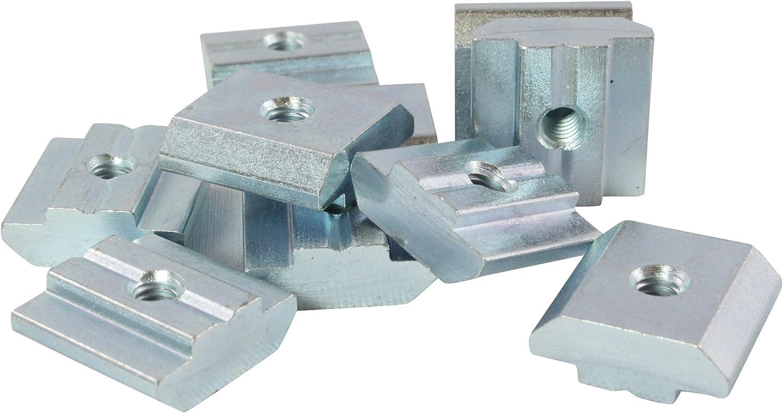 Stahl verzinkt Typ B schwer 100x Nutenstein Nut 8 M4 mit Steg