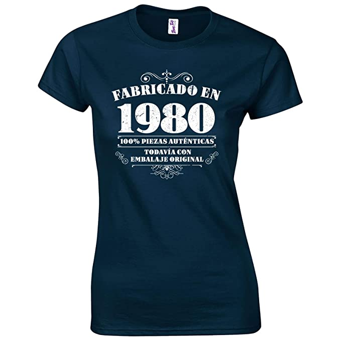 Bang Tidy Clothing Camiseta de Mujer para Regalo de 40 cumpleaños Manufactured 1980