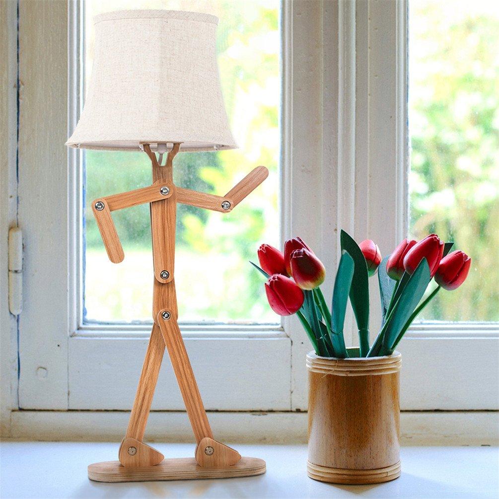 Voglee Modern Unique Diy Adjustable Table Lamp With Shade