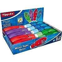 Tipp-Ex Micro Tape Twist Cintas Correctoras 8 m x 5 mm - colores Surtidos, Caja de 10 unidades