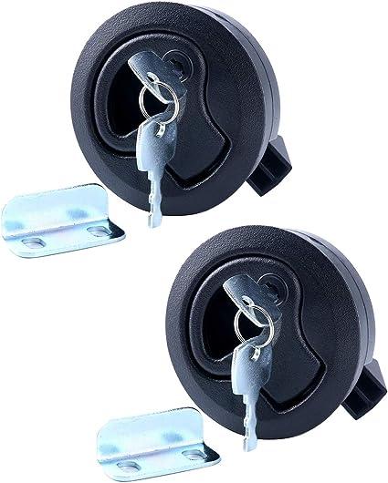 "Chrome Lock Amarine Made 2/"" Flush Pull Slam Latch for Boat Deck Hatch 1//4/"" Door"