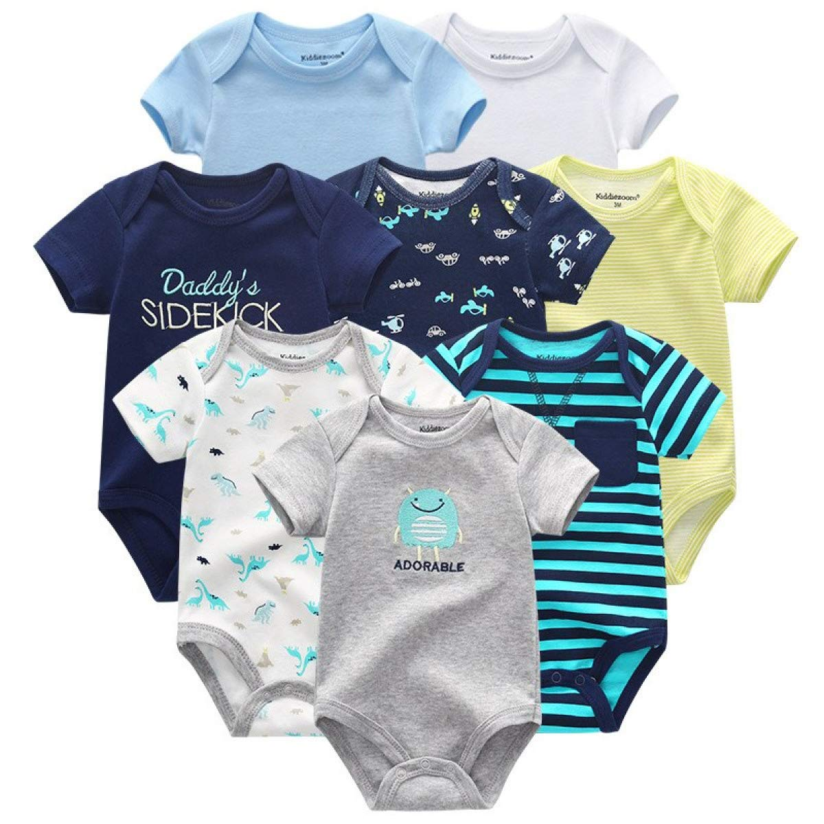 MELLOW SHOP 8PCS//Lot Girls Baby Clothing Bodysuits Baby Girl Clothes Cotton Boys Clothes Short