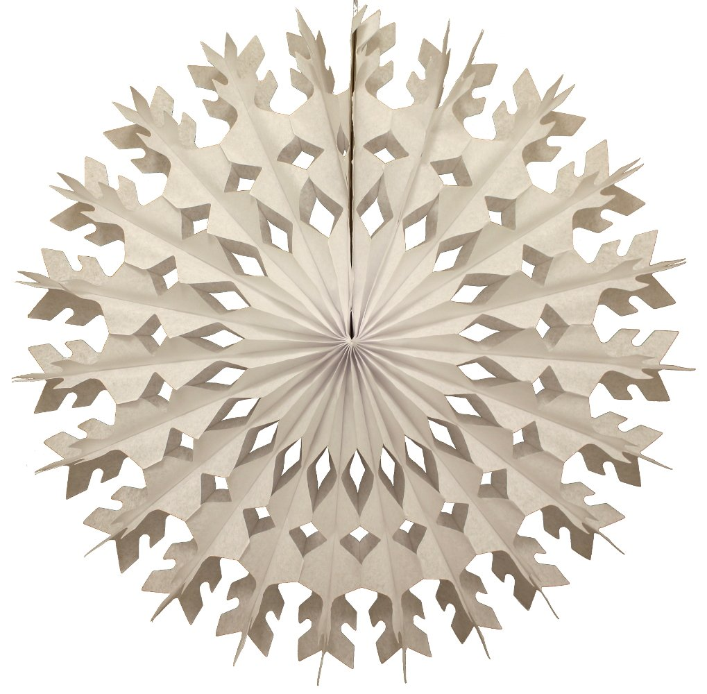 6-pack 22 Inch Large Tissue Paper Snowflake (White) by Devra Party (Image #2)