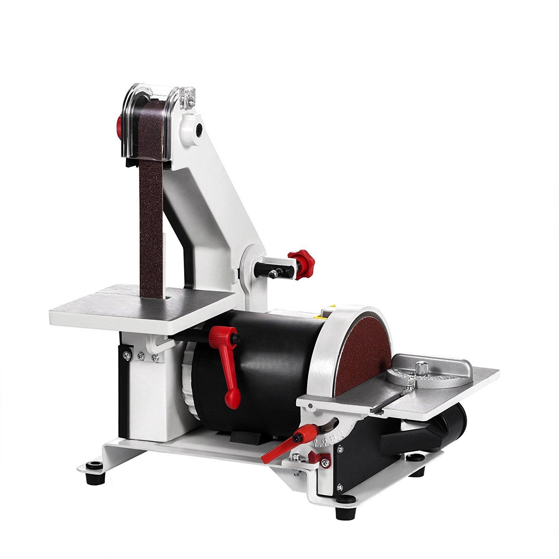 FORAVER 300W 1 x 30 Inch Belt Grinder Sander Electric Belt & Disc Sander 2950 RPM Variable Speed Workshop Sanding Grinding Machine (300W)