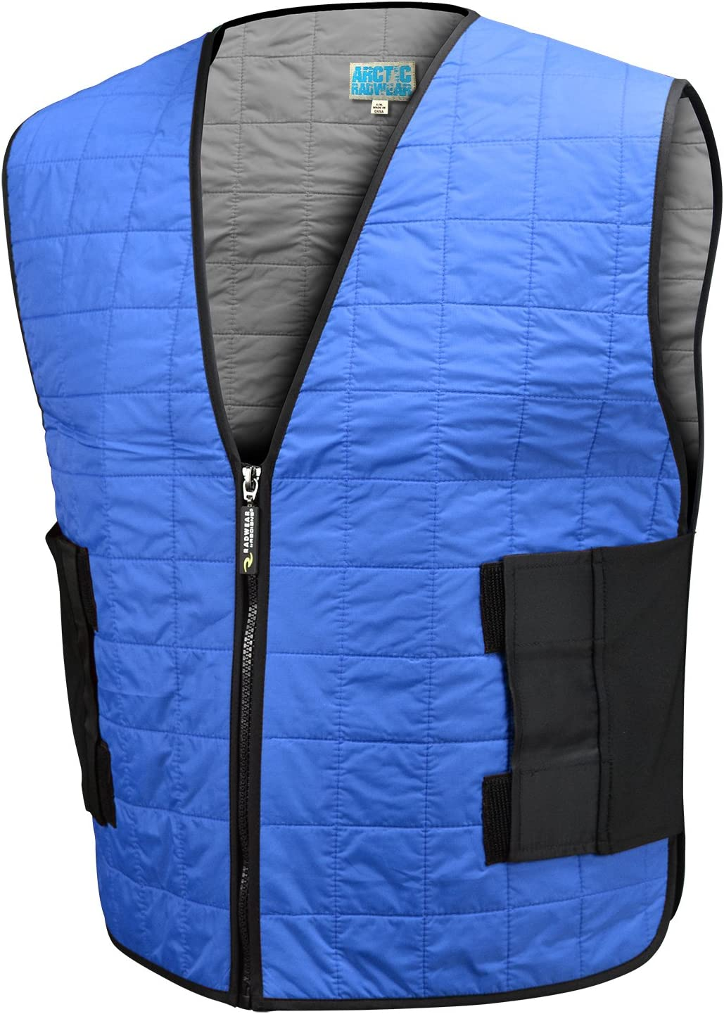 Radians Arctic Radwear Evaporative Cooling Vest Wear Dry Zipper - Blue