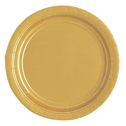 Gold Paper Cake Plates 25ct  sc 1 st  Amazon.com & Amazon.com: Gold Paper Cake Plates 25ct: Kitchen \u0026 Dining