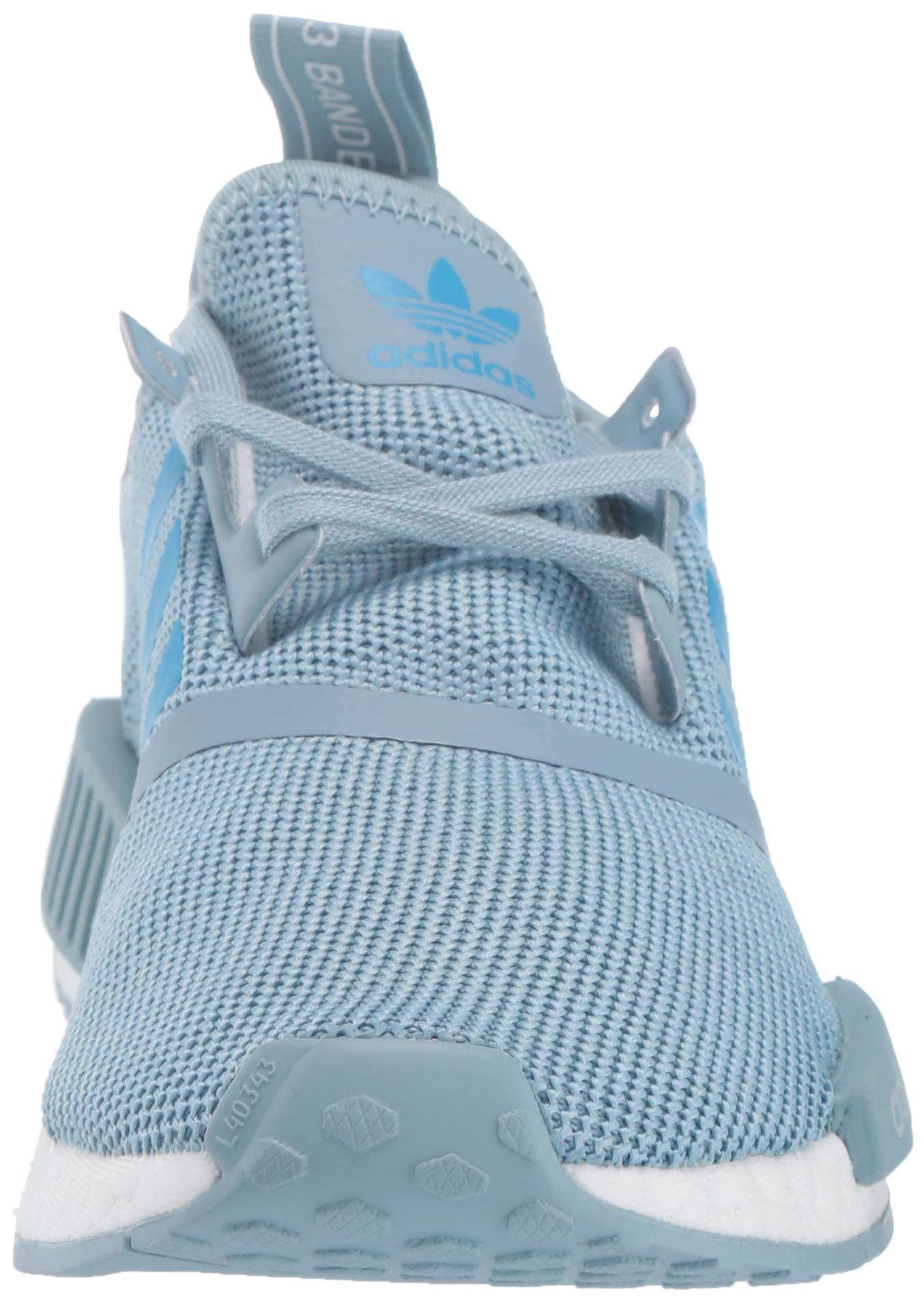 adidas Originals Unisex NMD_R1 Running Shoe ash Grey/Shock Cyan/White 4 M US Big Kid by adidas Originals (Image #4)