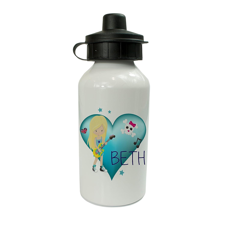Personalisierter Kinder Getränke Wasser Flasche Rock Chick Thema 400 ...