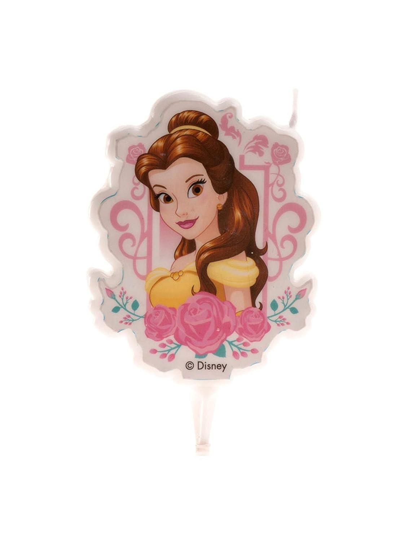 Dekora Vela de Cumpleaños 2D Bella Disney, color amarillo ...