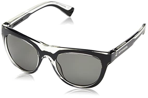 55DSL Mens FF0001 Wayfarer Sunglasses 01N Black Shiny Crystal